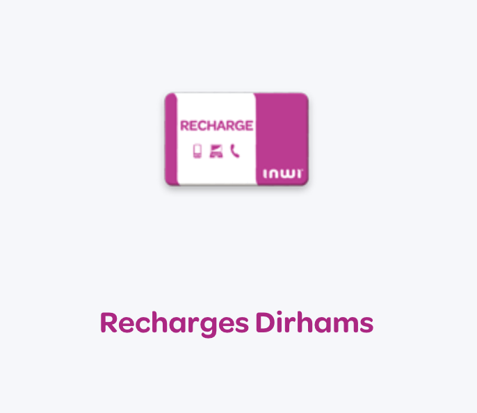 Recharge Dirhams INWI avec PayPal