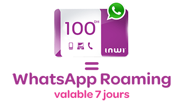pass whatsapp inwi roaming